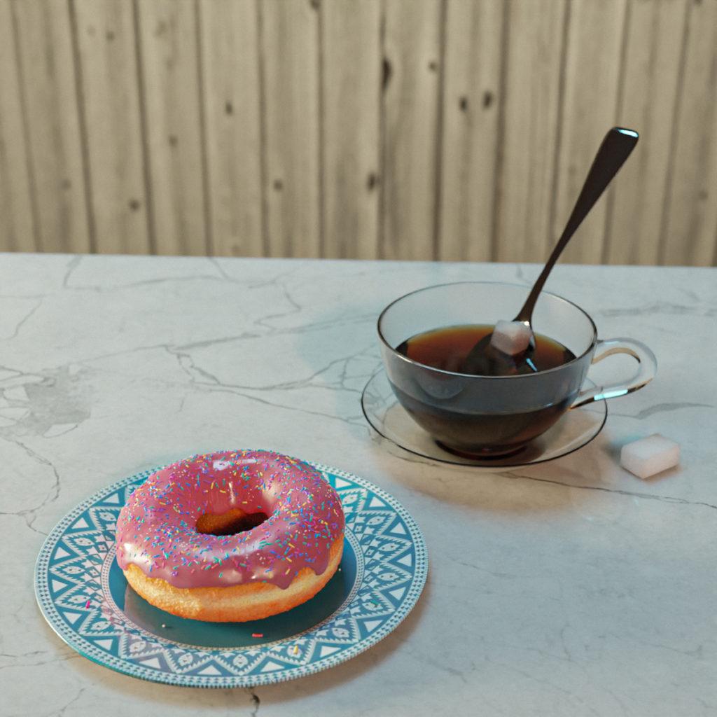 Scène petit-déjeuner