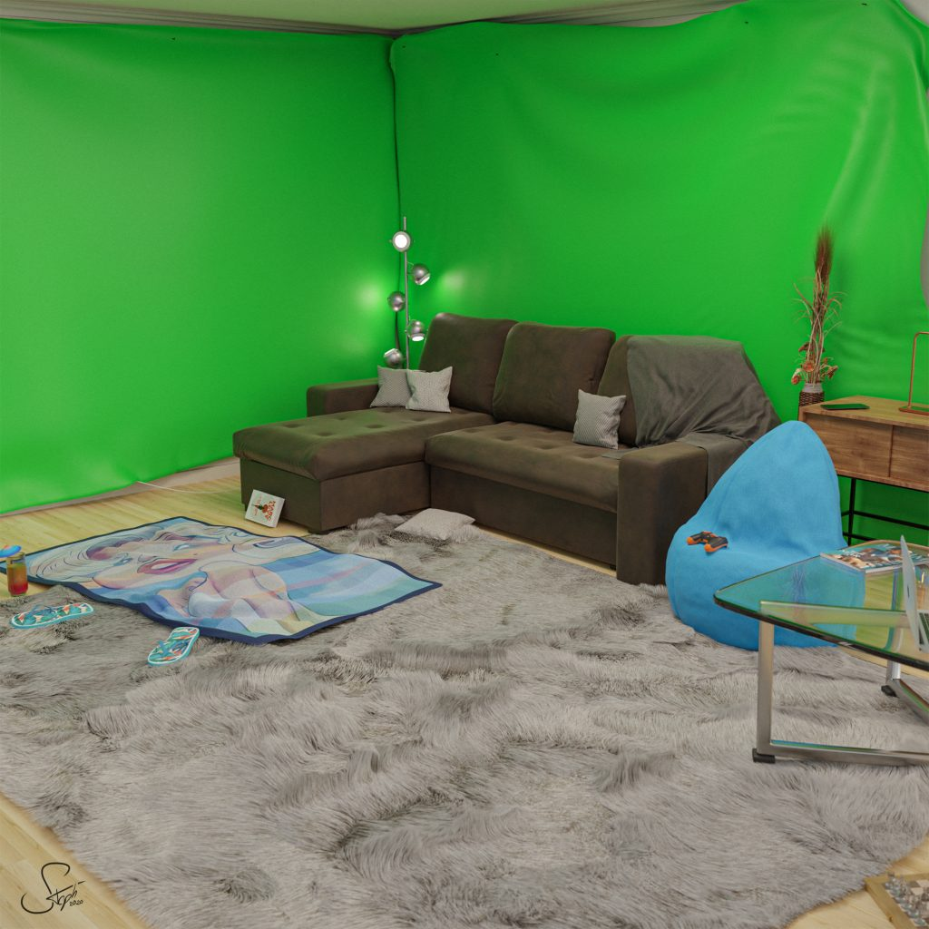 Greenscreen living room